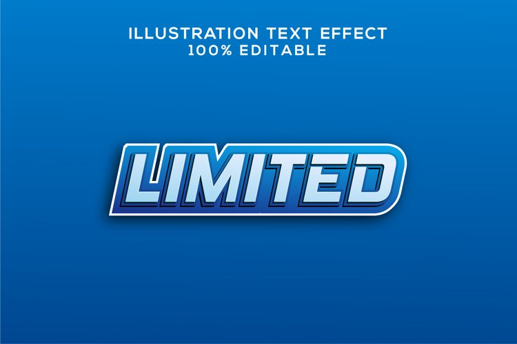 limited text effect vector example image 1