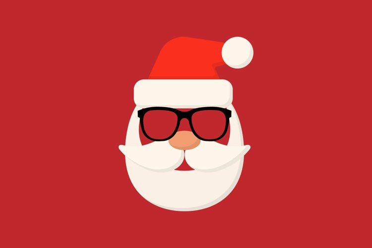 Santa hipster icon for your business