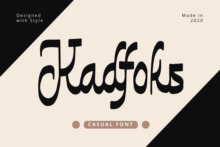 Kadfoks - Casual Fonts