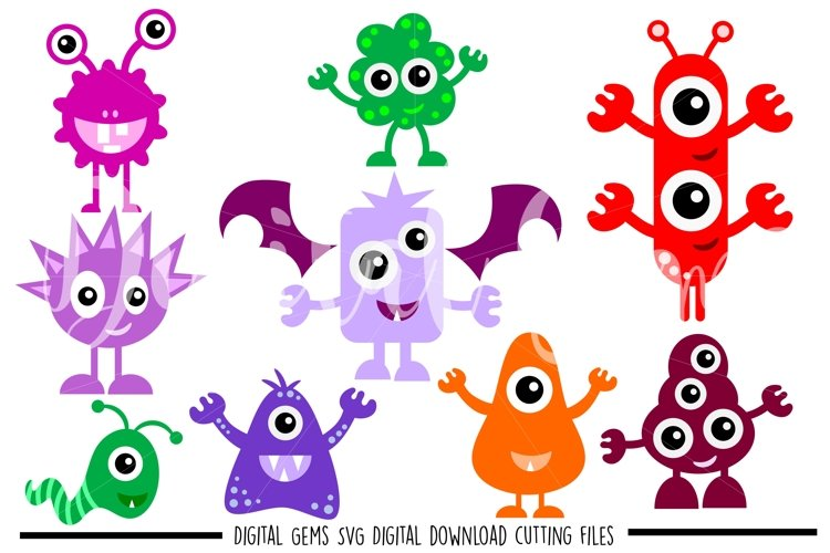 Monster SVG / PNG / EPS / DXF Files example image 1
