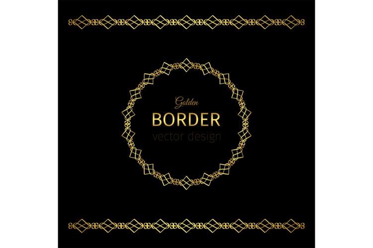 Download Golden Geometrical Border And Circle Frame 861046 Illustrations Design Bundles