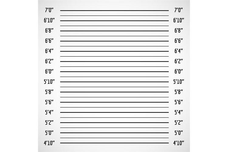 Blank criminal police lineup or mug shot vector background example image 1