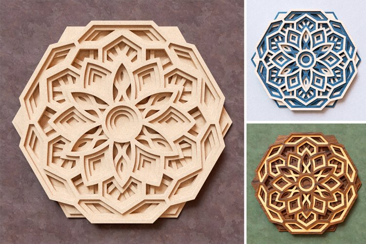 Mandala 3D Layered SVG Cut File - Laser Cutting example 6