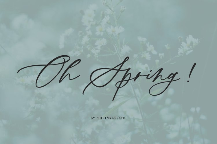 Oh Spring! Calligraphy Font example image 1