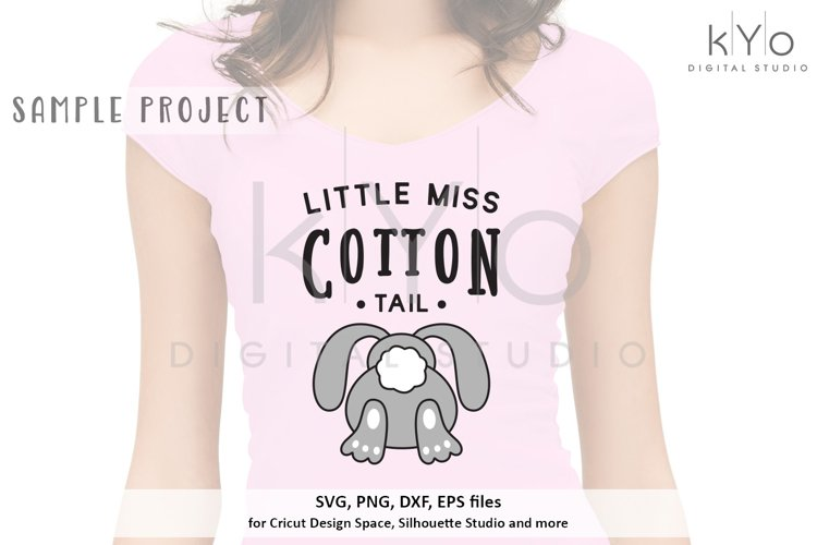 Little Miss Cotton Tail SVG DXF PNG EPS files