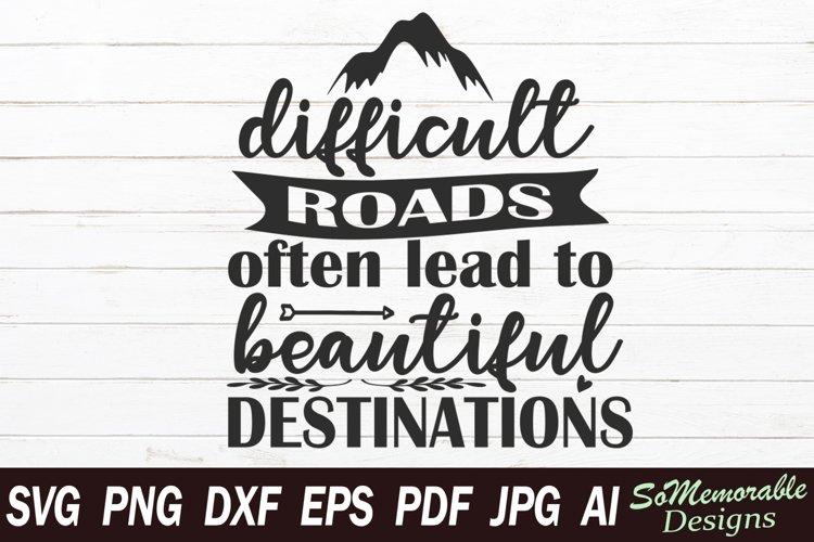Inspirational SVG cut file, Motivational svg design example image 1