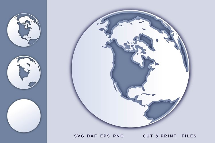 Earth, Svg files for cricut, Layered Earthsvg, 3d svg example image 1