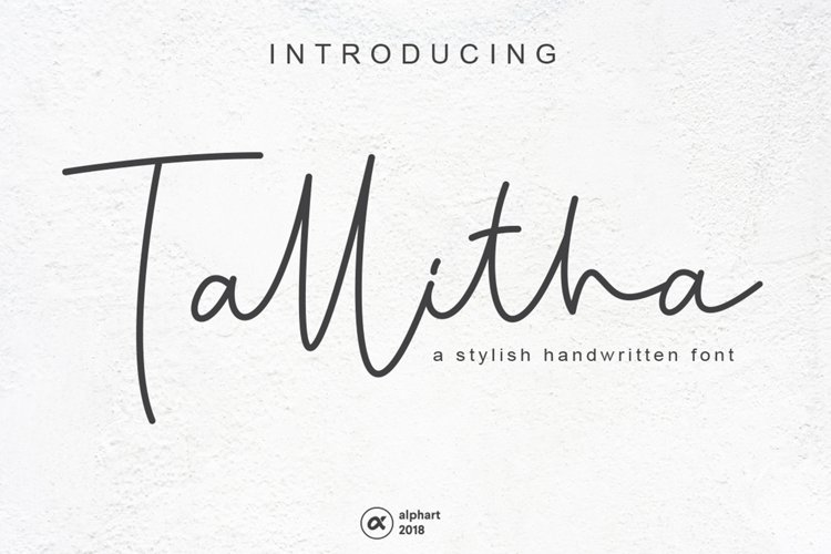 Tallitha a stylish handwritten font example image 1