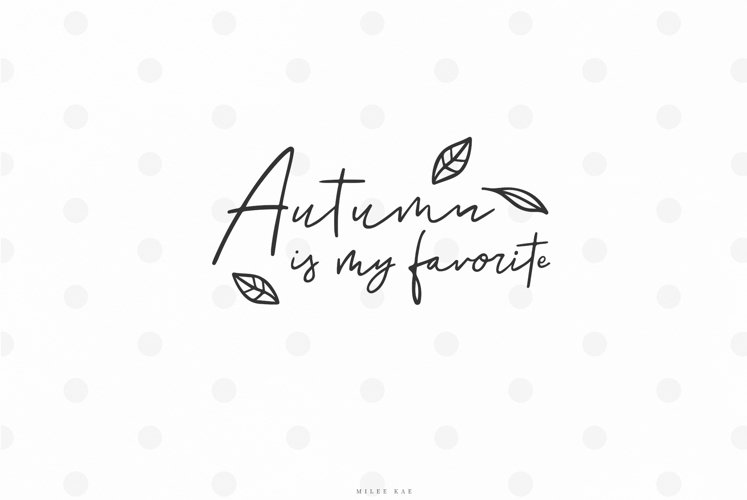 Fall autumn quote svg cut file example image 1