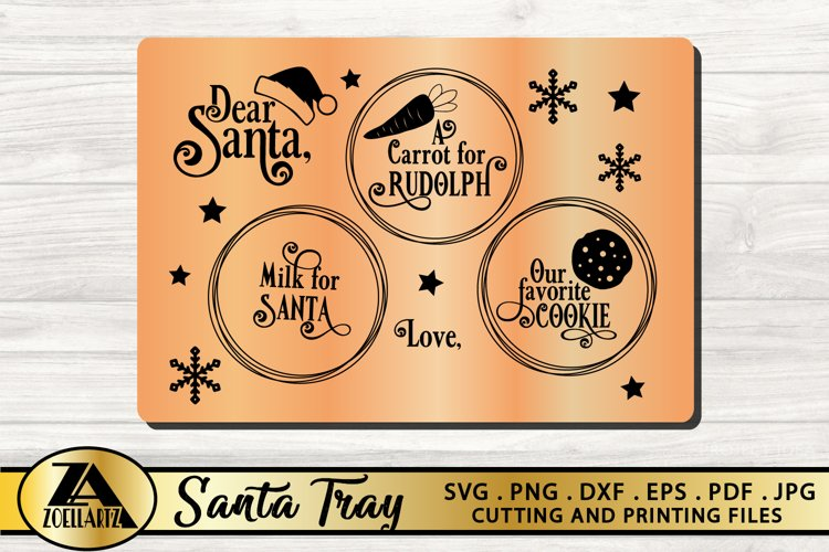 Santa Tray SVG PNG EPS DXF Christmas SVG Cookie Tray SVG example image 1