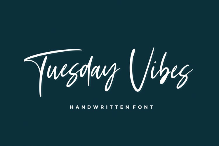 Tuesday Vibes - Handwritten Font example image 1