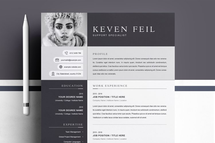 Professional Resume / CV Template example image 1