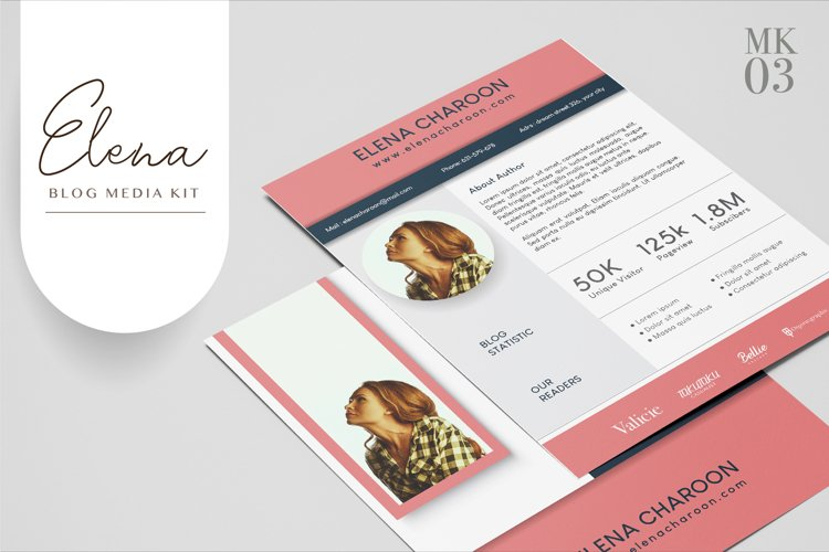 Blog Media Kit Template - 3 Page example image 1