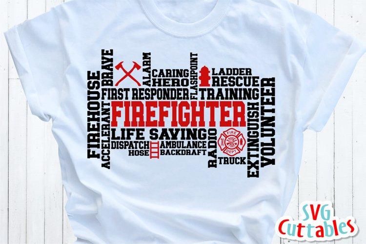 Firefighter SVG   Firefighter Word Art   Shirt Design