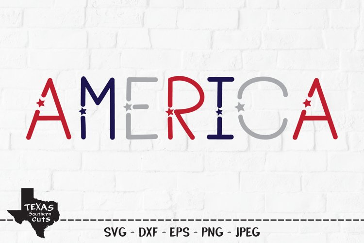 America SVG, Cut File, Patriotic Shirt Design, 4th of July example image 1