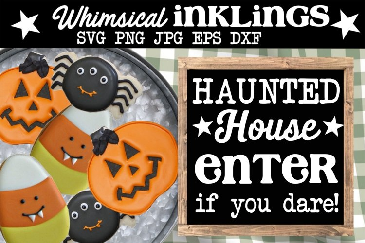 Haunted House-Halloween SVG example image 1
