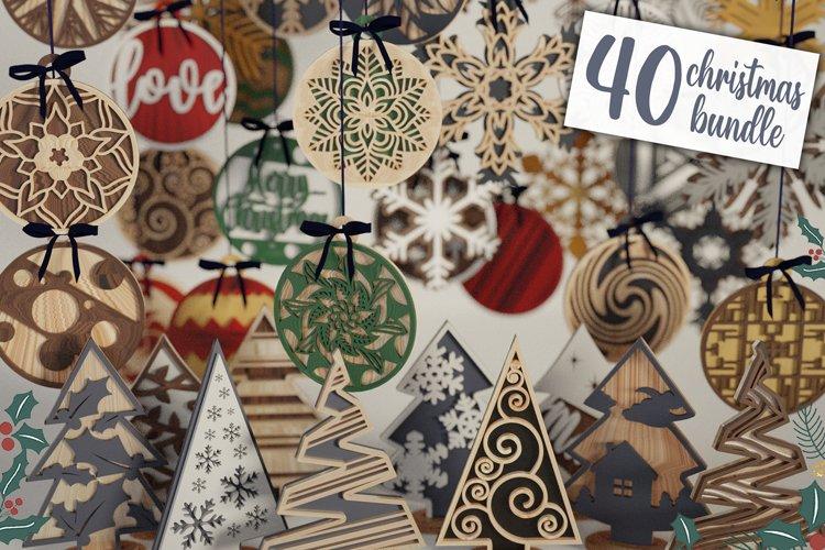 Christmas Decoration Bundle - 40 designs Bundle Ultimate example image 1