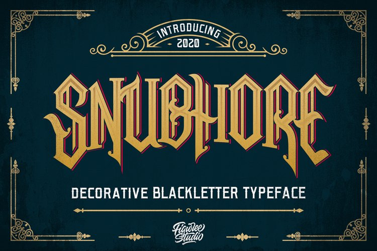 Snubhore - Blackletter Typeface example image 1