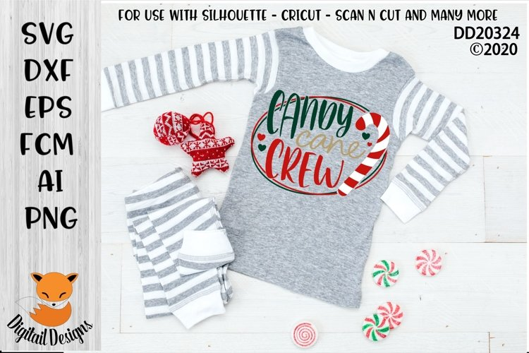 Candy Canes Crew Christmas SVG for Silhouette, Cricut example image 1