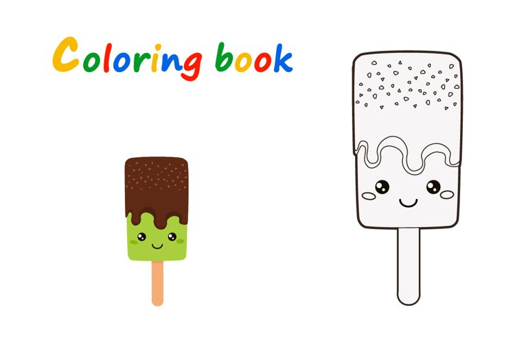 Set of Doodle Ice Creams in a Bright Cartoon Style example 3