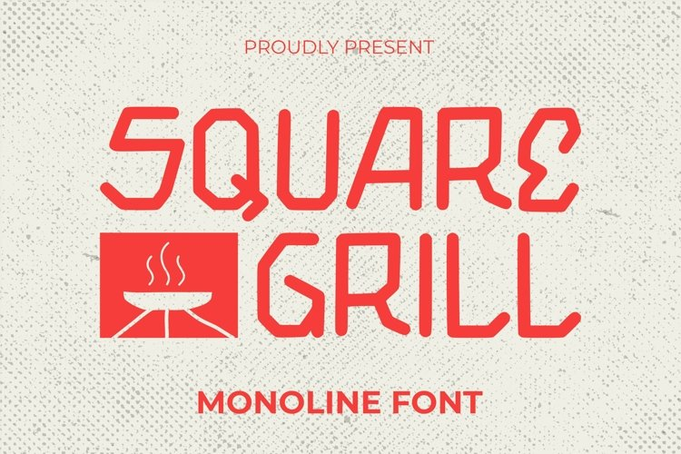 Web Font Square Grill Font example image 1