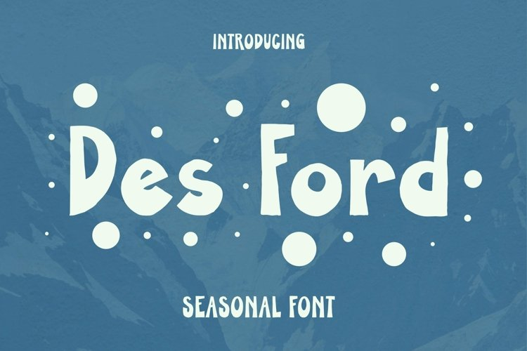 Web Font DES FORD Font example image 1