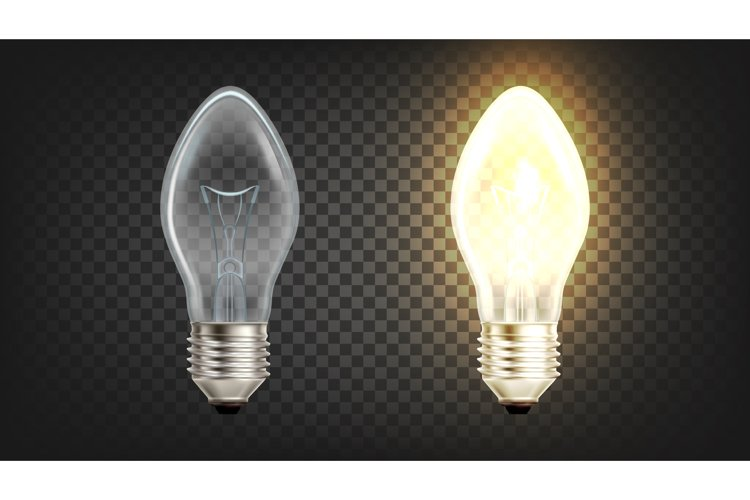 Electrical Glowing Incandescent Light Globe Vector example image 1