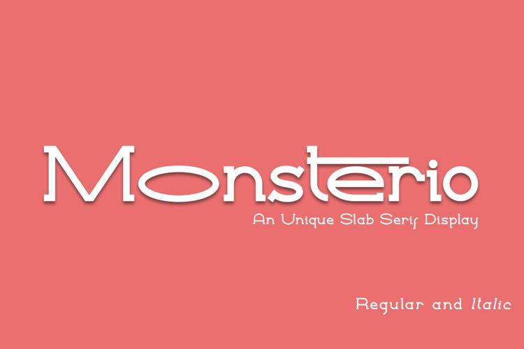Monsterio an Unique Slab Serif example image 1