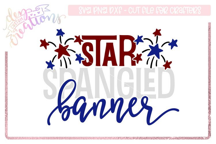 Star Spangled Banner - 4th of July Design example image 1
