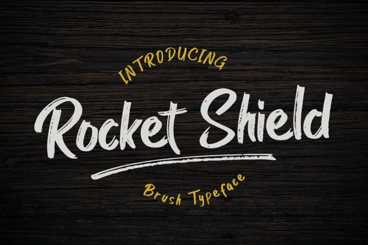 Rocket Shield | A Handmade Brush Font example image 1