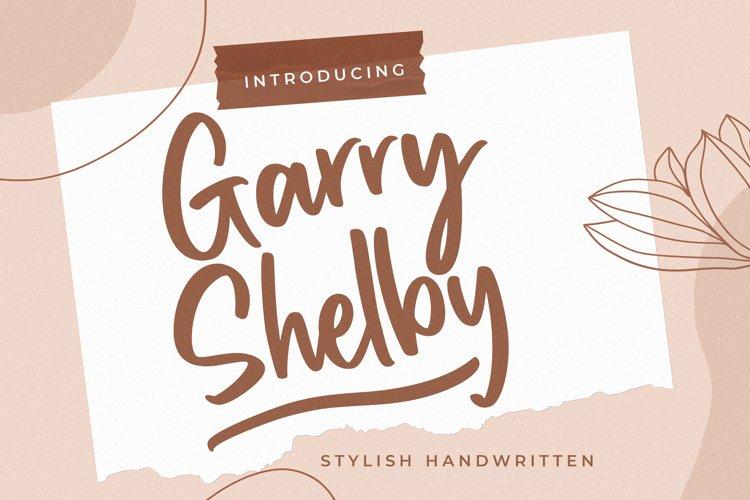 Garry Shelby Stylish Handwritten example image 1