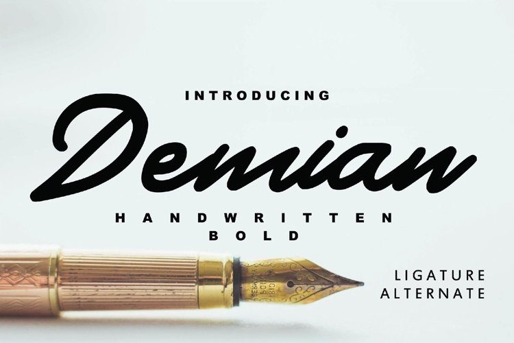 Demian - Handwritten Bold Typeface example image 1