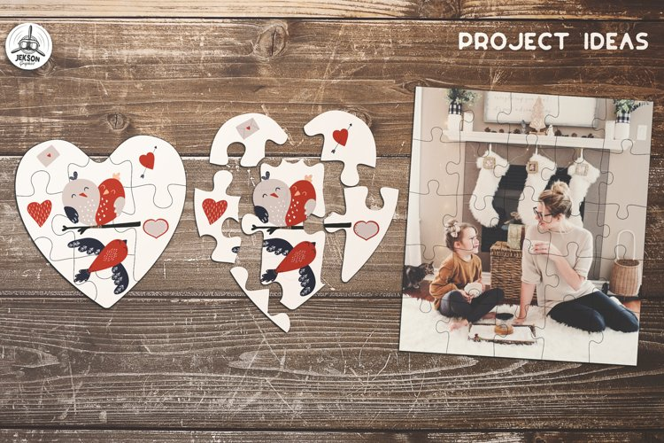 Puzzle Jigsaw SVG Templates Bundle - Classic, Heart, Unusual - Free Design of The Week Design4
