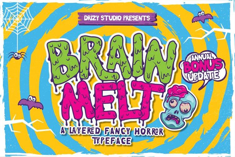 Brain Melt Layered Typeface UPDATE!