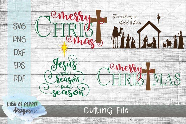 Mini Religious Christmas Bundle - 4 SVG Designs