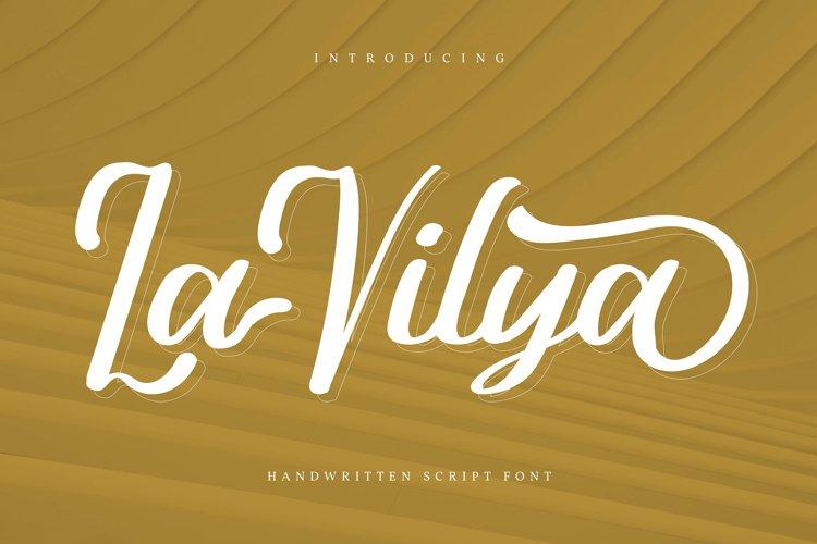 La Vilya | Handwritten Script Font example image 1