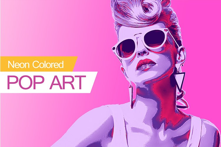 Neon Colored Pop Art PS Action example image 1