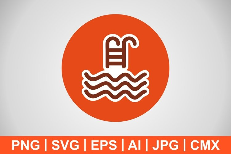 Vector Swimming Pool Icon example image 1