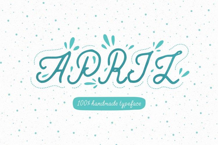 April—handwritten font example image 1