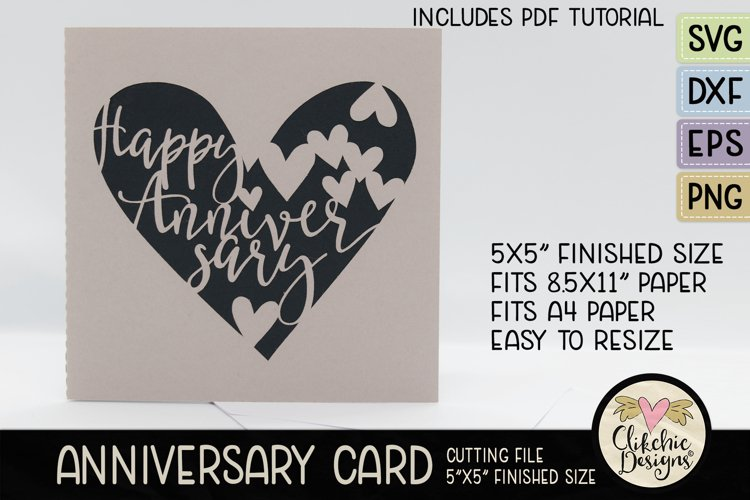 Anniversary Card SVG - Happy Anniversary Card Cutting File