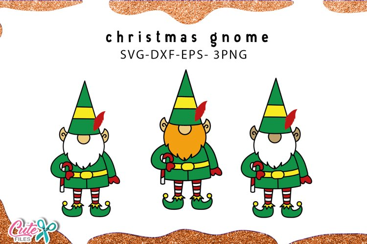 Christmas Elf | gnome SVG for crafter example image 1