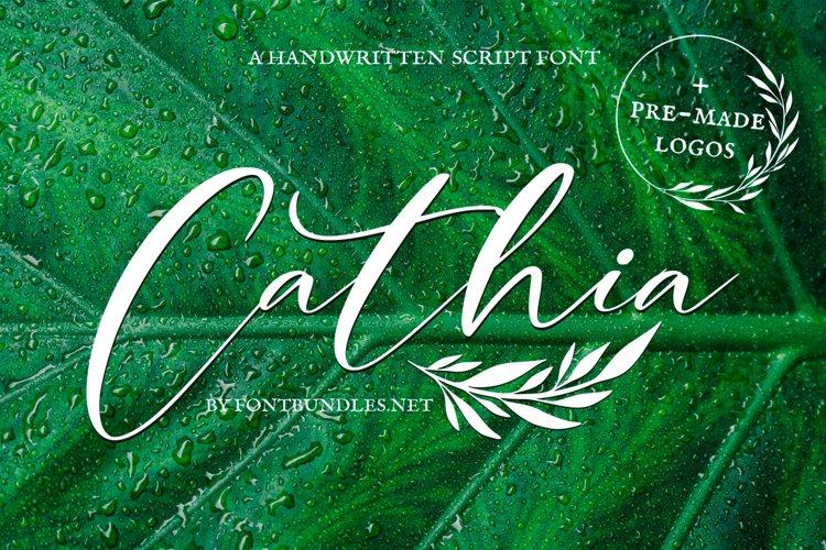 Web Font Cathia Script Font example image 1