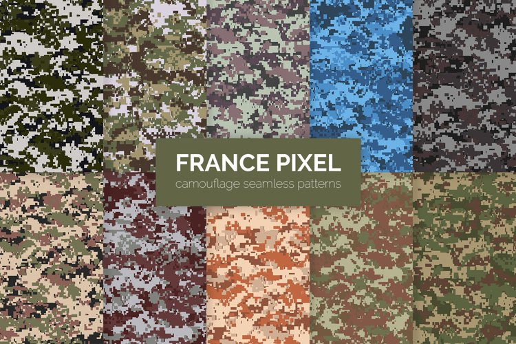 France Pixel Camouflage Patterns example image 1