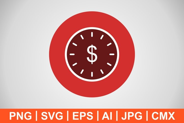 Vector Time Is Money Icon example image 1