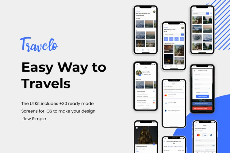 Travelo - Travel app UI Kits