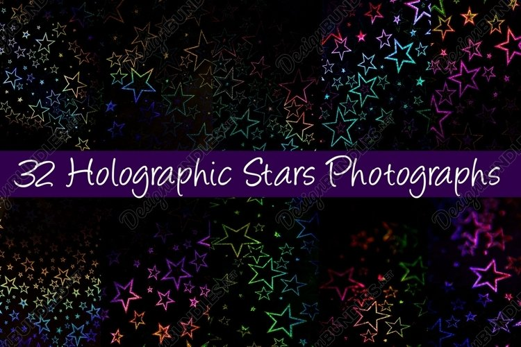 32 Holographic Stars Photography Backgrounds example image 1