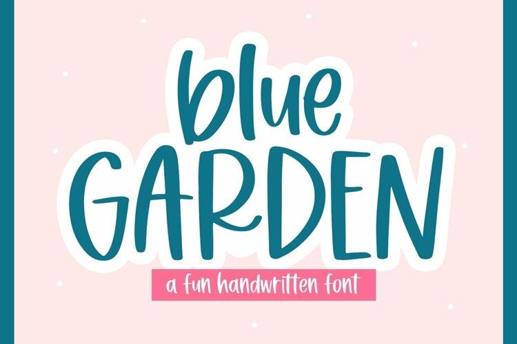 Web Font Blue Garden - A Fun Handwritten Font example image 1