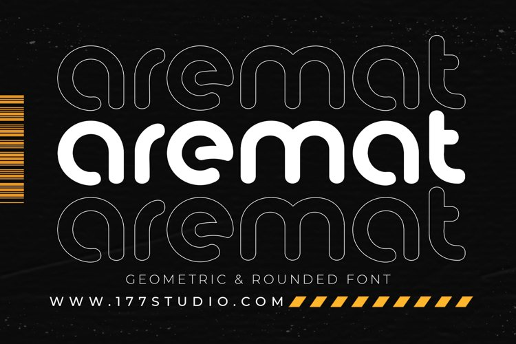 aremat Geometric & Rounded Font example image 1