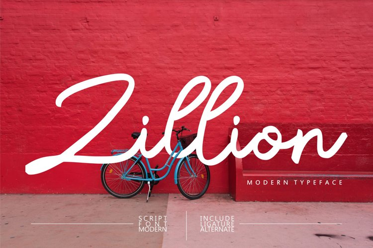 Zillion| Modern Script Font example image 1