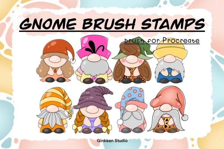 33 Brush stamp procreate, Gnomes stamp, Gnomes brush stamp example image 1